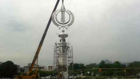 World's tallest Khanda comes up at Shri Anandpur Sahib in Punjab