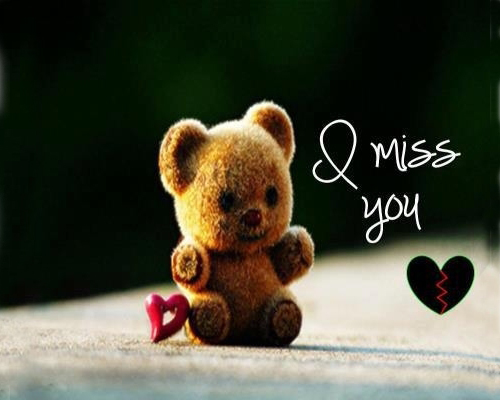 Miss you animal images