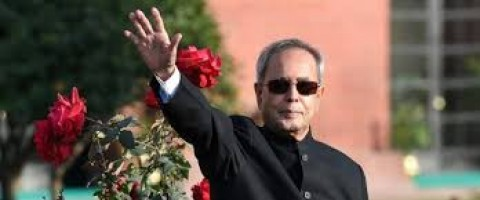 President Pranab Mukherjee arriving Chandigarh