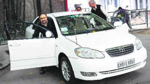 Official Car Of UT Finance Secretary's Attach By Court