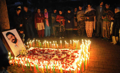 Candle March On Late Shooter Sippy's Sidhu birthday