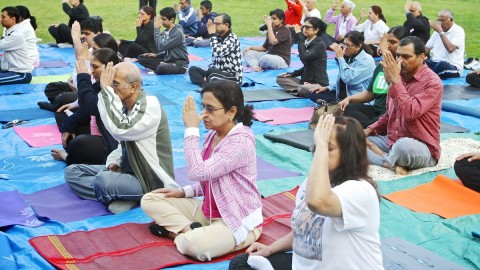 Yoga Workshop Held At MCM DAV College