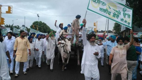 Farmers  Are On Protest In Chandigarh