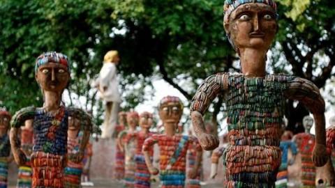 PM Modi Gave Best Cleanness Park Award To Rock garden