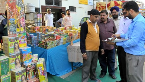During Raids Official Destroyed Illegal Chinese Crackers