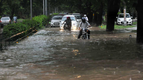 Waterlogged On Various Chokes In Chandigarh And Panchkula Due To Rain