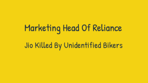 Marketing Head Of Reliance Jio Killed By Unidentified Bikers