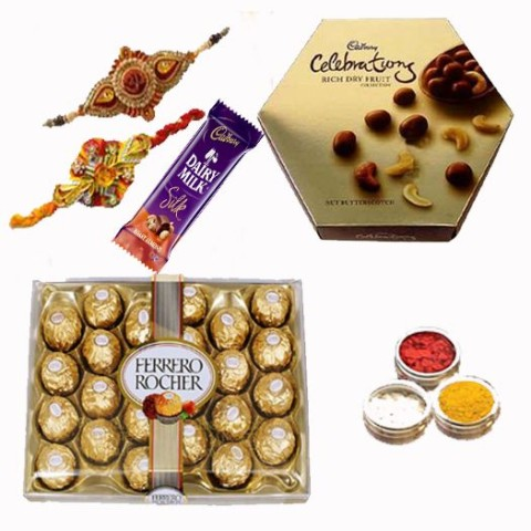 Cartoon Rakhis And Chocolates Catches Children's Desire