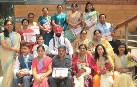 On Teacher's Day Teachers Are Awarded At Tagore Theatre