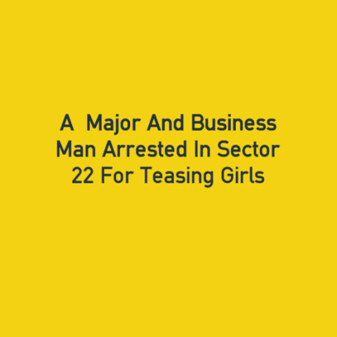 Major And Businessman Arrested In Sector 22 For Teasing Girls