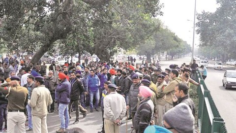 Second-Hand Car Dealers Protest In Chandigarh