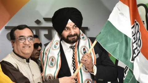 Sidhu Start Election Campaign With The Bang On The Badals in Chandigarh