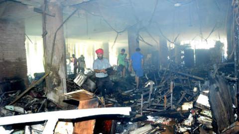 Panjab University Executive Block Gutted