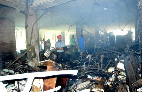 Panjab University Executive Block Gutted